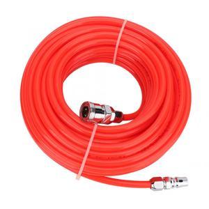 Image 1 - 5*8mm 고압 유연한 공기 압축기 호스 남성/여성 빠른 커넥터 15 m 빨간색 공기 호스
