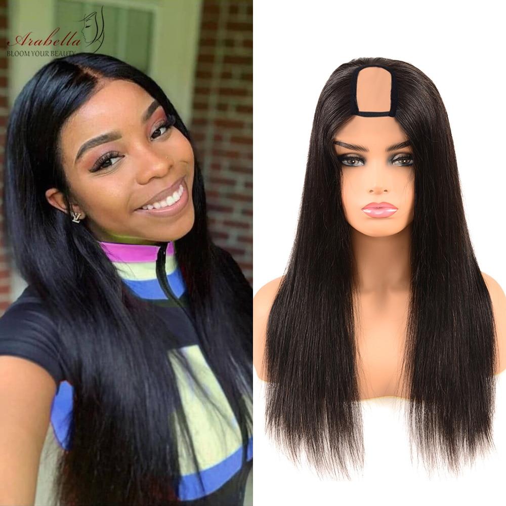 U Part Wig  Straight Hair Natural Color 100%  Wigs Arabella Hair  Wigs 2