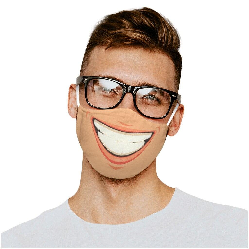 Маска многоразовая Mascarilla в стиле унисекс, креативная забавная аниме маска для рота с реалистичным забавным лицом, дышащая, для косплея