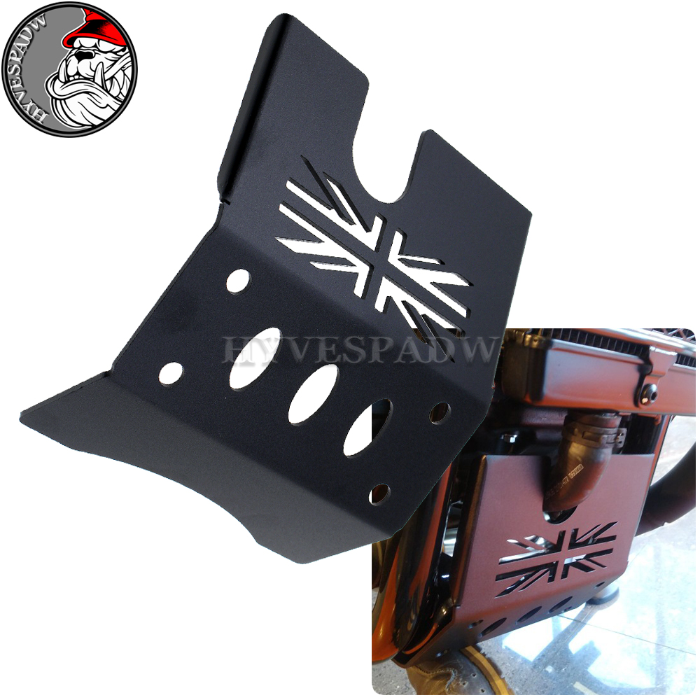 for TRIUMPH Bonneville Bobber Black Engin Motorcycle Skid Plate Engine Guard Chassis Protection Cover CNC Aluminum