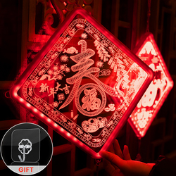 New Year Decoration Chinese Festival Lantern Chinese Traditional Holiday LED Switch 2021 Decoration Chandelier Balcony