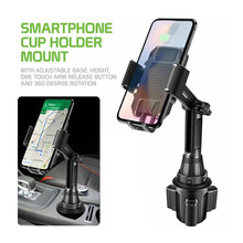New Adjustable Gooseneck Car Water Cup Holder Cellphone Mount Sucker Stand Cradle Mobile Phone Tablet Car Holder Support