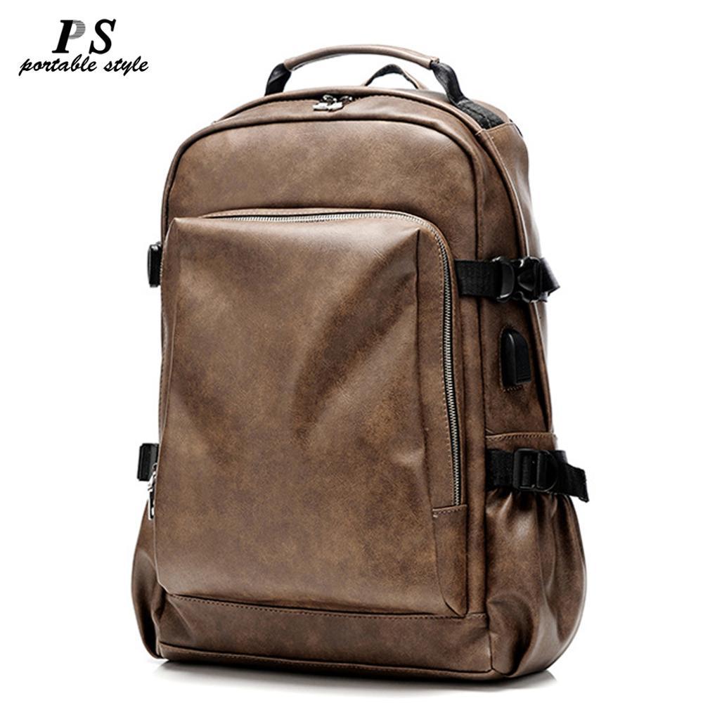 Vintage Laptop100 % sacs à dos en cuir véritable pour sacs d'école hommes voyage loisirs sacs à dos rétro sac casual sacs d'école adolescent