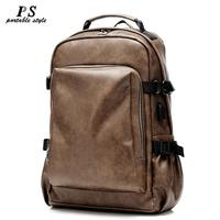 Vintage Laptop100% Genuine Leather Backpacks for School Bags Men Travel Leisure Backpacks Retro Casual Bag Schoolbags Teenager
