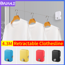 Retractable Clothesline Outdoor Indoor Rope Telescopic Stainless String Invisible Clothesline Dryer Balcony Clothes Drying Rack robinson outdoor products sb dryer sheets 20 ct canister