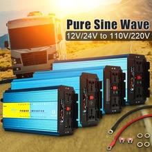 Чистая синусоида Инвертор 12 В 220 В 6000 Вт 5000 Вт 4000 Вт 3000 Вт 2000 Вт трансформатор пикового напряжения преобразователь 12 в 110 В 60 Гц Солнечный инвертор