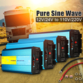 Чистый синусоидальный инвертор 12 В 220 В 6000 Вт 5000 Вт 4000 Вт 3000 Вт 2000 Вт преобразователь пикового напряжения 12 в 110 В 60 Гц Солнечный инвертор