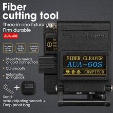 블랙 AUA 60S 파이버 클리버 케이블 커터 가죽 광학 케이블 테일 점프 용 베어 광섬유의 3 in 1 고정 장치