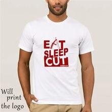 Camiseta de manga corta a la moda, cuello redondo, corte peludo