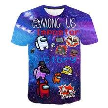 Entre os eua série de jogos de alta qualidade 3d roupas infantis t-shirts meninos e meninas camiseta o pescoço 4-14 manga curta