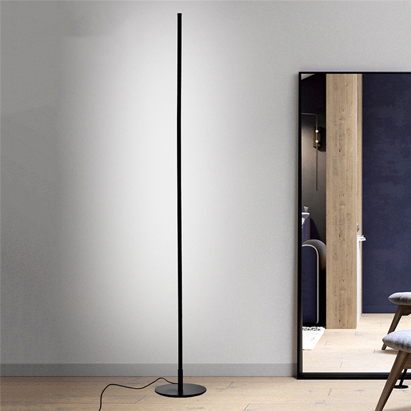 Minimalist LED Floor Lamps Aluminum Living Room Standing Long pole Light 90-260V