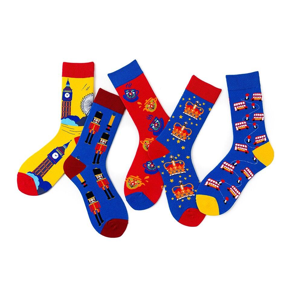 1 Pair Women Socks Cotton Funny Socks Female Colorful Cool Lover Socks 36-43EUR