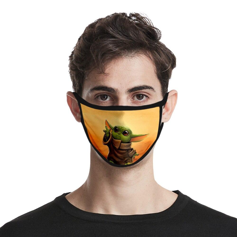 Star Wars The Mandalorian Baby Yoda Cosplay Mouth-muffle Anti-Dust Face Mask Adult Dustproof Masks