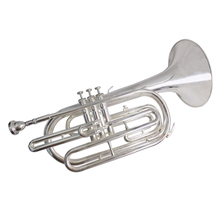 лучшая цена Bb Brass Marching Trombone Silver plated  with Case and mouthpiece Wind musical instruments professional