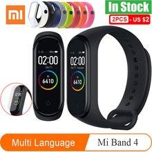 Versão global xiaomi mi banda 4 pulseira inteligente miband 4 pulseira de freqüência cardíaca fitness tela colorida bluetooth 5.0 versão chinesa