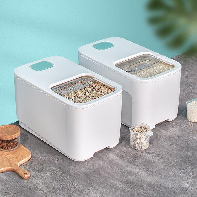 Пластиковый контейнер для хранения зерна, 10 кг, коробка для хранения зерна, мерный стаканчик, герметичный, влагостойкий, от насекомых, большой контейнер для пищевых продуктов для домашних животных|Коробки и ящики для хранения|   | АлиЭкспресс
