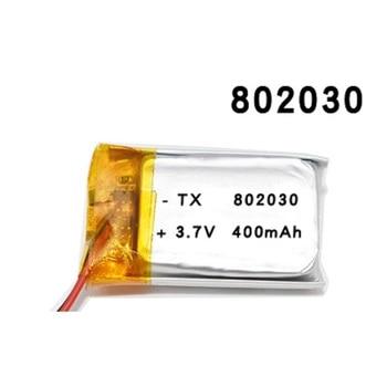 802030 400mAh 3.7V ליתיום פולימר סוללה MP3 MP4 MP5 Li יון לעיסוי סוללות החלפת ב neoline evo z1 אוטומטי-הרשמה