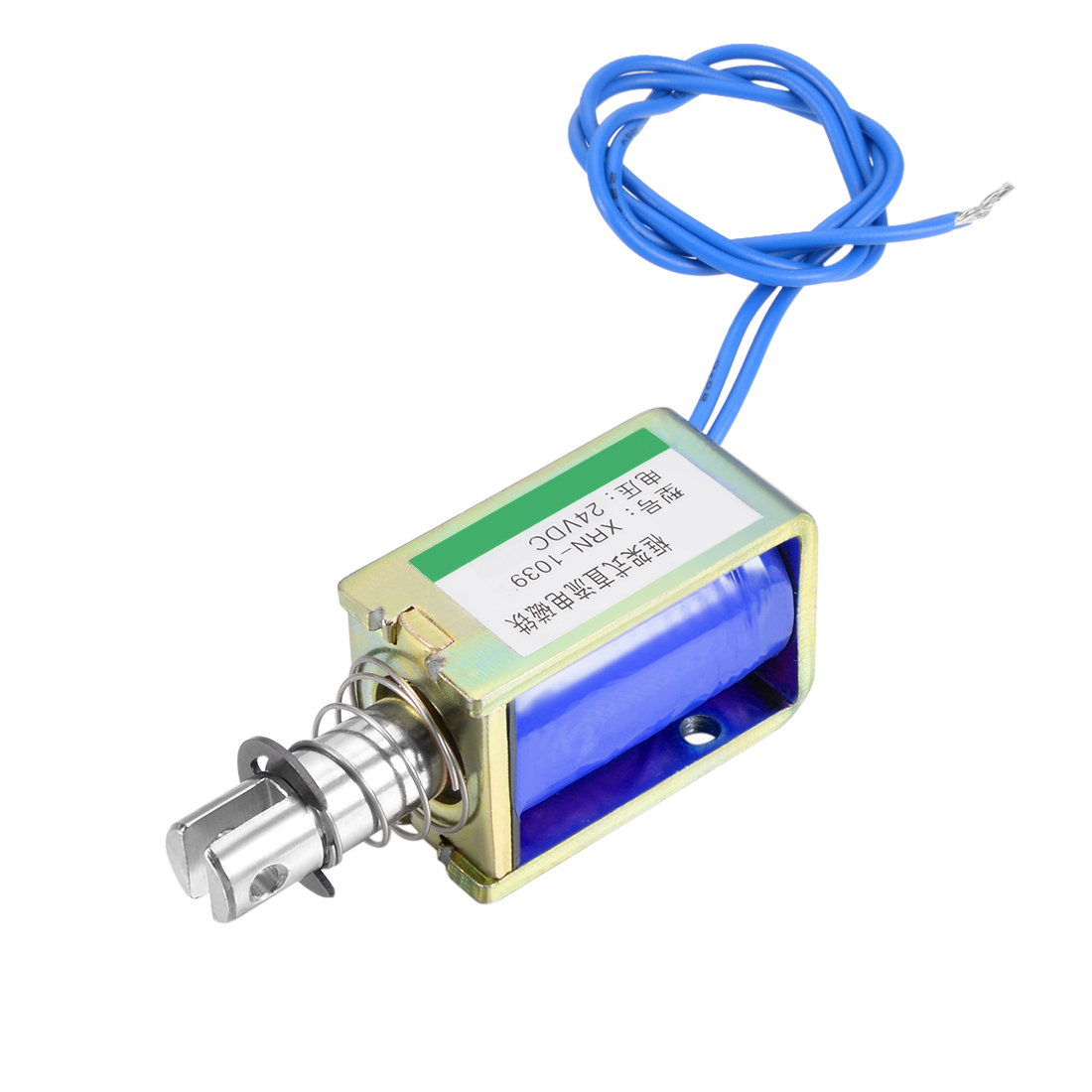 Uxcell XRN-1039 DC 24V 0.8A 19.2W 25N 10mm Pull Type Open Frame Solenoid Electromagnet