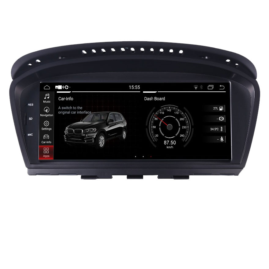 2020 New Android 9.0 car radio multimedia player for BMW 5 Series E60 E61 E63 E64 <font><b>E90</b></font> E91 E92 CCC CIC Support iDrive Parking image