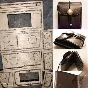 Сделай Сам, кожаный складной кошелек, Винтажный дизайн, режущие штампы, форма для ножей, металлический Дырокол, набор инструментов