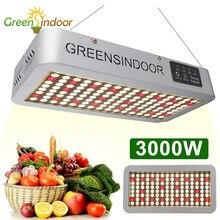 Greensindoor phytolamp para plantas 3000w temporizador cresce a luz led phyto lâmpada espectro completo 3500k 660nm margarida corrente ervas cultivo
