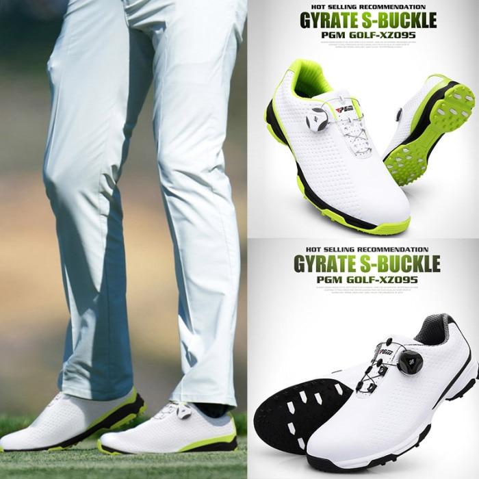 Sapatos de golfe masculino esportes à prova