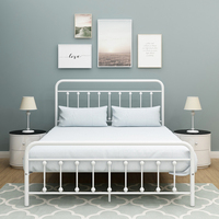 BOFENG Metal Bed Frame Square Single&Double&Queen Size Home Furniture Bedroom Modern Iron Muebles De Dormitorio > 2000mm