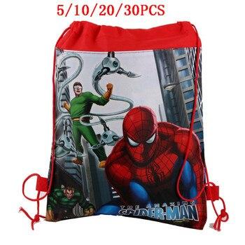 5/10/20/30PCS Cartoon Dinsey Spiderman Children School Bag Boy Girls Kindergarten Bag Baby Toddler Bag Kids School Backpack gift