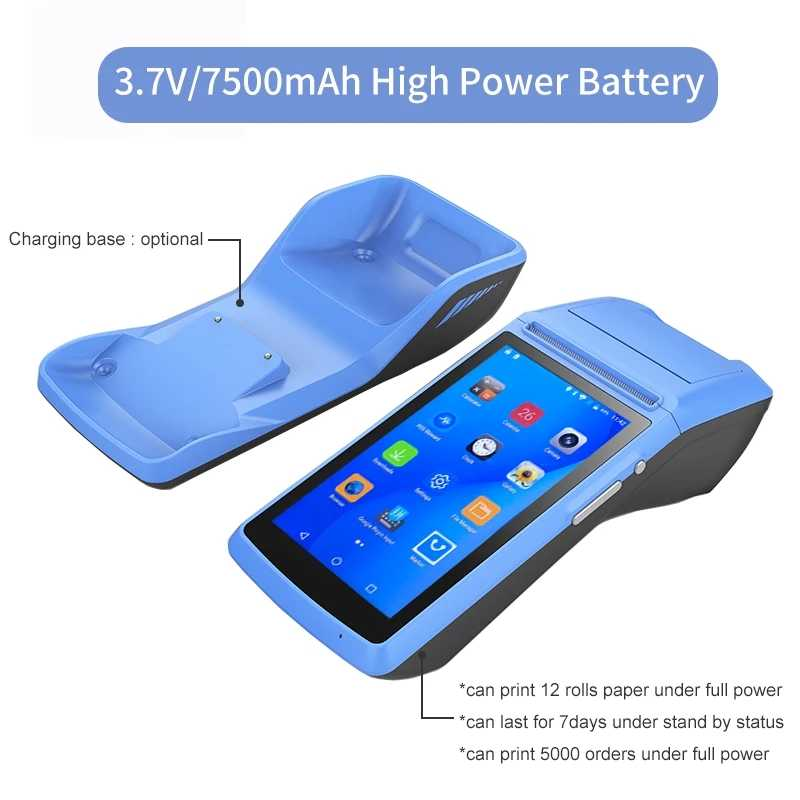 GZWEIOU PDA เครื่องพิมพ์ Handheld POS Terminal กับ All In One เครื่องพิมพ์ความร้อน Android POS มือถือสมาร์ทม้วน POS กระดาษ NFC