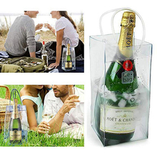 Ice-Bag Chiller Champagne Bottle Carry-Handle Portable Bucket-Wine PVC Eco-Friendly
