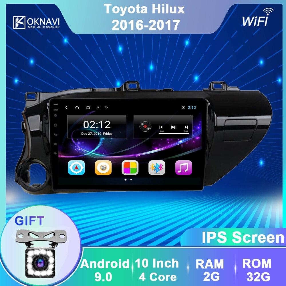 OKNAVI 2 Din Android 9.0 Car Player GPS Navigation Multimedia For  TOYOTA Hilux 2016 2017 Car Stero Navigation Radio WIFI No DVD
