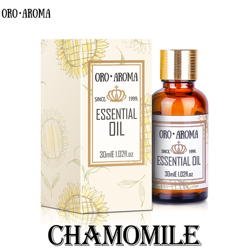 Famous brand oroaroma free shipping natural chamomile essential oil Comfort Relieve pain Improve sleep chamomile oil
