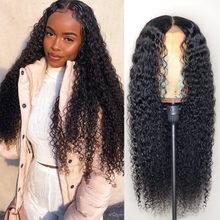 Perruque Lace Front Wig mongole naturelle, cheveux bouclés, 13*4, pre-plucked, avec Baby Hair, pour femmes africaines