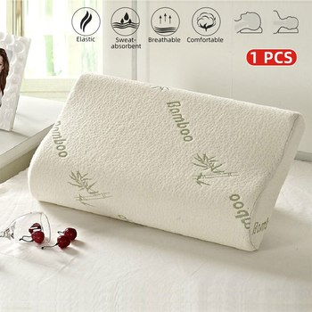 Almohada ortopédica de espuma de memoria de bambú para dormir