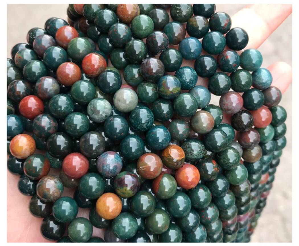 Natural Fancy Jasper 6-10mm Round Gemstone Beads  For 925 Sterling Silver Jewelry Making  Necklace Bracelet 15inch ICNWAY