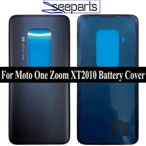 Original For Motorola Moto One Zoom Battery Cover Back Glass Panel Rear Housing Case For Moto One Pro XT2010 Battery Cover