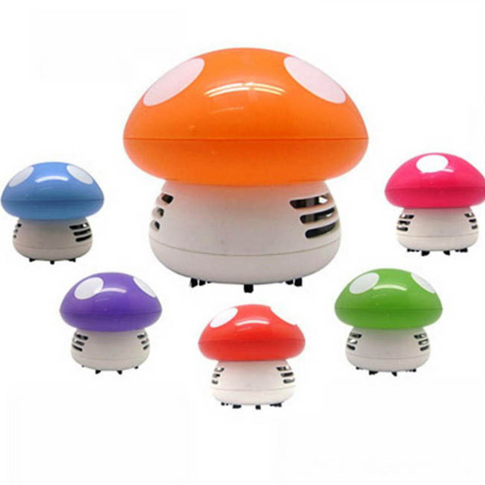 Mini Table Dust Vacuum Cleaner Mushroom Shaped Portable Corner Desk Vacuum Cleaner Mini Cute Vacuum Cleaner Dust Sweeper