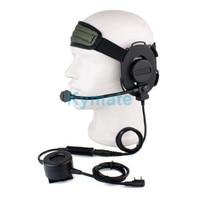 Baofeng-auricular táctico de aviación, dispositivo de audio con cancelación de ruido, partes de auriculares Softair, UV5R 888S, nueva versión, PTT