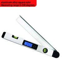 Digital Angle Finder Gauge 0-230 Degree Protractor Ruler Miltre Angle Finder With LCD Display Spirit Level Back-Light