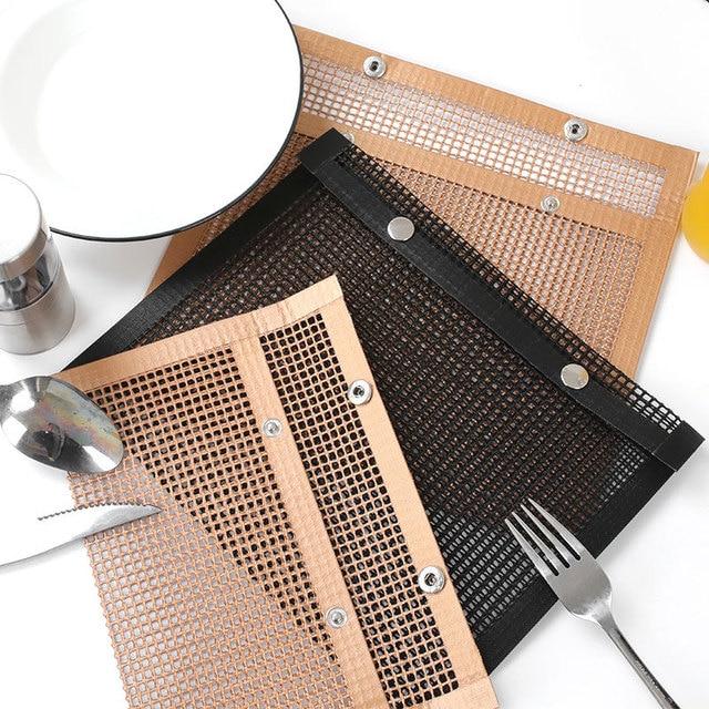2 Sizes Non Stick Heat Resistance BBQ Mesh Grilling Bag 5
