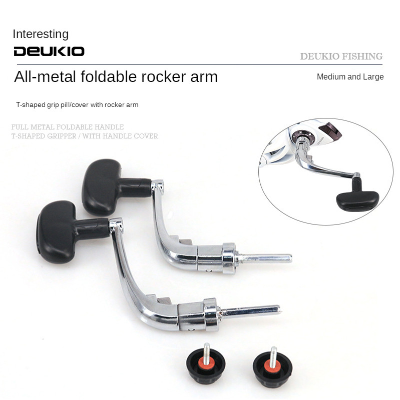 1x metal handle fishing reel crank crank arm spinning reel fishing reel winch/_TI