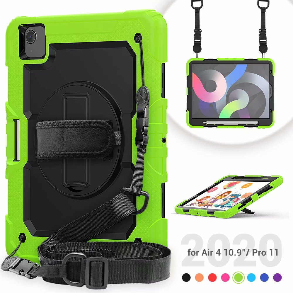 Heavy Case 4th Silicone Kickstand For Protective Generation Screen Film with Duty Air iPad