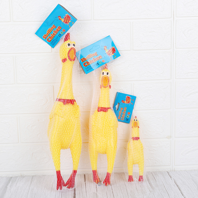 Large Medium And Small Size Scream Chicken Enamel Point Scream Chicken Vent Toys Trick People Play Tricks Vocalize Pet Toys