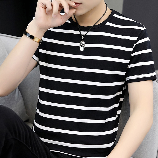 Men's Casual Short-sleeved T-shirt Wild Clothes Tide  2731