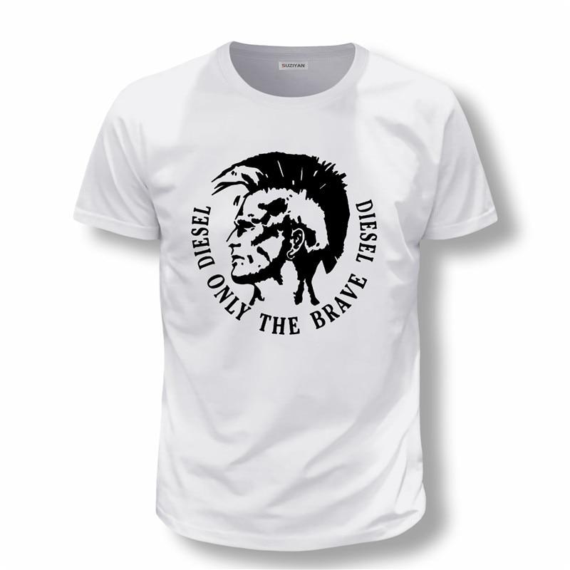 Harajuku T-shirt NEW Diesel Only The Brave Diesel Print Hakuna Men Tshirt Funny Fashion T Shirts Cool Shirt For Men Casual Top
