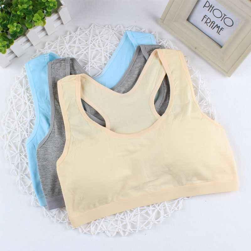5pc/lot Bra for Kids Cotton Training Bra for Girls Teens Underwear Girls Underwear 8 14 Years|Tanks & Camis|   - AliExpress