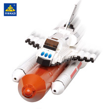 KAZI 194Pcs Space Shuttle Expedition Aerospace Model Building Blocks LegoINGLs Technic Bricks Toys for Children Christmas Gifts