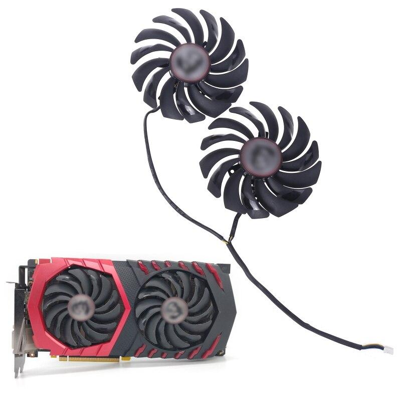 2 RX480 580 GTX1080Ti PLD10010S12HH PARA MSI Radeon 1070 Placa Gráfica Cooler Fan Y98A