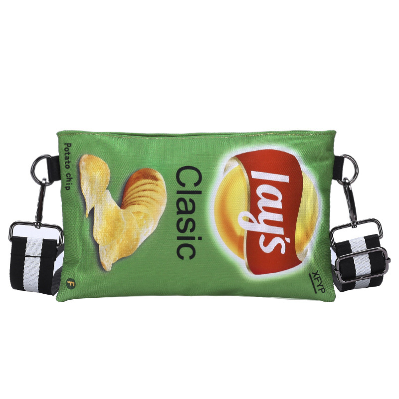 Funny Potato Chips Crossbody Handbag Women Canvas Shoulder Bag Mini Cartoon Printing Girl Envelope Bags Female Clutch Cute Purse 8