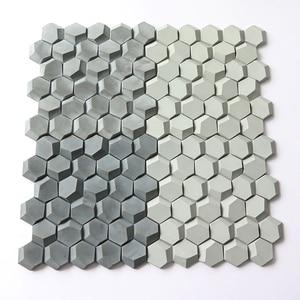 3D сотовый дизайн, бетонная настенная плитка, силиконовая форма для цемента, напольная плитка, форма для украшения дома, настенная плитка с ф...
